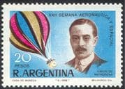 Argentina 1968 Aeronautics Week/ Aviation/ Balloon/ Airship/ Transport/ People 1v (n24217)