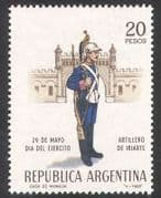 Argentina 1968 Army Day  /  Military  /  Soldiers  /  Uniforms  /  Weapons 1v (n39624)
