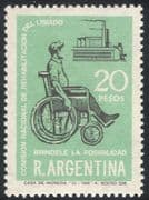 Argentina 1968 Handicapped/ Disabled/ Health/ Welfare/ Wheelchair 1v (n26760)