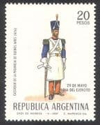 Argentina 1969 Army Day  /  Military  /  Soldiers  /  Uniforms  /  Weapons 1v (n39625)