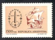 Argentina 1981 Espamer '81/ Sailing Ship/ Boats/ Ships/ Nautical/ Transport/ StampEx 1v (n43195)