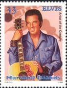 Marshall Islands 1999 Elvis Presley/ Music/ Singers/ Singing/ Songs/ Guitar/ Instruments 1v (b3002a)