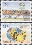 Aruba 2006 Football World Cup Championships/ WC/ Soccer/ Sports/ Games/ Paintings  2v set (b2060h)