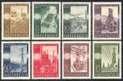 Austria 1947 Industry  /  Oil  /  Coal Mining  /  Electricity  /  Foundry  /  Tractor  /  Fair 8v n39841