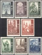 Austria 1948 Cathedral/ Buildings/ Architecture/ Church/ Statues/ Art 8v set (n42226)