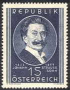 Austria 1949 Strauss the Younger Music/ Composers/ Waltz/ Dance/ Dancing/ People 1v (n43104)