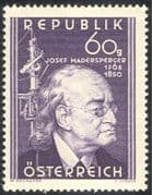 Austria 1950 Josef Madersperger/ Inventors/ Inventions/ Sewing Machine/ People/ Clothes/ Business/ Technology 1v (n43112)