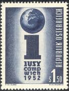 Austria 1952 International Union of Socialist Youth Camp/Emblem 1v (n44488)