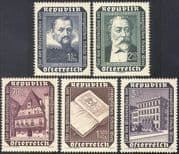 Austria 1953 Evangelical School/ Kepler/ Lutheran Bible/ Astronomy/ Buildings/ Architecture/ Religion 5v set (n42166)