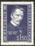 Austria 1953 Hugo Wolf/ Composers/ Music/ Musicians/ People/ Entertainment 1v (n43106)