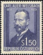 Austria 1954 Carl A v.Welsbach/ Chemist/ Science/ Chemistry/ Inventor/ Gas Mantle/ Lighting 1v (at1098a)