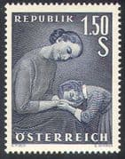 Austria 1956 Mother's Day/ Mother and Child/ Family 1v (n42162)