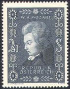 Austria 1956 Mozart/ Music/ Composers/ Entertainment/ Opera/ People 1v (n37746)