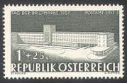 Austria 1957 Stamp Day  /  Post Office  /  Buildings  /  Architecture 1v (n37745)