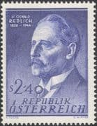 Austria 1958 Oswald Redlich/ Historian/ Writer/ Author/ History/ People 1v (at1113a)