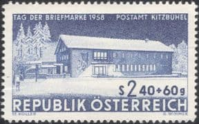 Austria 1958  Stamp Day/ Post Office Buildings/ Architecture/ Post/ Mail  1v  (at1183a)