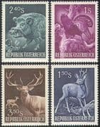 Austria 1959 Boar/ Deer/ Capercaillie/ Animals/ Birds/ Pigs/ Hunting 4v set (n41418)