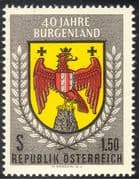 Austria 1961 Burgenland/ Eagle /Coat-of-Arms/ Heraldry/ History/ Politics 1v (n43129)