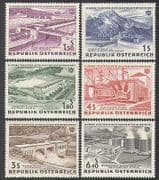 Austria 1962 Dam  /  Power  /  Energy  /  Water  /  Buildings  /  Boat  /  Canal  /  Electricity 6v (n37741)