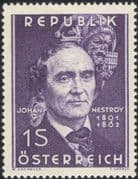 Austria 1962 Johann Nestroy/ Playwright/ Writers/ Authors/ Acting/ People 1v (at1101a)