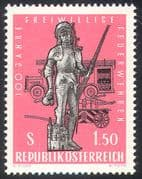 Austria 1963 Fire Engines/ Statue/ Emergency Rescue/ Firemen 1v (n26450)