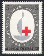 Austria 1963 Red Cross  /  Centenary  /  Candle  /  100 yrs Anniversary 1v (n20391)