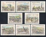 Austria 1964 Buildings  /  Architecture  /  Vienna  /  StampEx  /  WIPA 8v set (n33248)