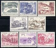 Austria 1964 Horses  /  Stagecoach  /  Bus  /  Coach  /  UPU  /  Transport  /  Animals  /  Post 8v (n30439)