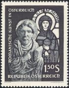 Austria 1964 Romanesque Art/ Gothic/ Stained Glass/ Carving/ Statue/ Sculpture 1v (at1062a)