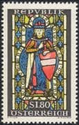 Austria 1964 Saint Leopold/ Stained Glass/ Art/ Church/ People 1v (at1051a)