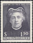 Austria 1965 Bertha v.Suttner/ Writer/ Nobel Prize/ Authors/ Writers 1v (at1103a)