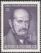 Austria 1965 Dr I Semmelweis/ Physician/ Doctor/ Medical/ Health/ People 1v (at1081a)