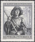 Austria 1965 St George/ Saints/ Religion/ Art/ Drawings/ Artists/ People 1v (at1112a)