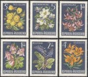 Austria 1966 Alpine Flowers/ Nature/ Plants/ Lily/ Anemone/ Wulfenia 6v set (at1079a)