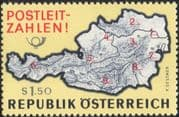 Austria 1966 Introduction of Post Code System/ Maps/ Postal History 1v (at1053a)