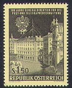 Austria 1966 PTT Centenary  /  Post Office  /  Mail  /  Buildings  /  Architecture 1v (n38517)