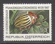Austria 1967 Beetle  /  Insect  /  Nature  /  Plants 1v (n24441)