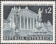 Austria 1969 Interparliamentary Union Meeting/ Parliament/ Buildings/ Architecture/ Statues/ Street Light 1v (at1116a)