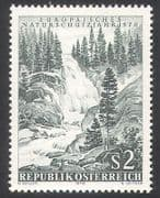 Austria 1970 Waterfall  /  Park  /  Forest  /  Trees  /  nature  /  Conservation 1v (n24864)