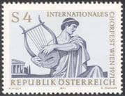 Austria 1971 International Choir Festival/ Song/ Singing/ Lyre/ Music/ Musician/ Musical Instruments 1v (n43616)