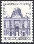 Austria 1972 Postal Conference/ Hofburg Palace/ Buildings/ Architecture 1v (n42168)
