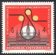 Austria 1972 Town Hall/ Buildings/ Architecture/ Economy Congress/ Printing/ Industry/ Commerce/ Business 1v (n42157)
