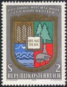 Austria 1972 University of Agriculture/ Crops/ Trees/ Farming/ Education 1v (at1060a)