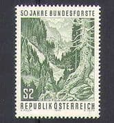 Austria 1975 Trees  /  Forest  /  Nature  /  Environment 1v  n25951