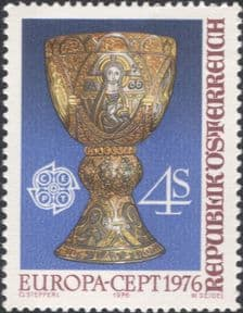 Austria 1976  Europa/ Tassilo Chalice/ Gold/ Craft/ Art/ Metalwork/ Cup  1v (at1185a)