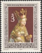 Austria 1977 Christmas/ Greetings/ Madonna/ Child/ Carving/ Sculpture/ Art 1v (at1033a)