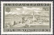 Austria 1977 Europa/ Attersee/ Lake/ Church /Bell Tower/ Clock/ Buildings 1v (n43055)