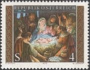 Austria 1979 Christmas/ Greetings/ Nativity/ Paintings/ Painters/ Art/ Artists 1v (at1035a)