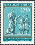 Austria 1979 Deaf/ Medical/ Health/ Education/ Carving/ Art/ Disabled/ Deafness 1v (n43980)