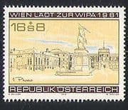"""Austria 1979 WIPA/ StampEx/ Buildings/ Statue/ Architecture/ Neue Hofburg """"Phase 1""""  1v (n32030)"""
